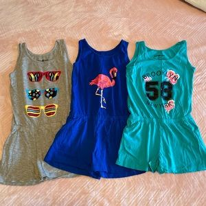 Girls cotton rompers